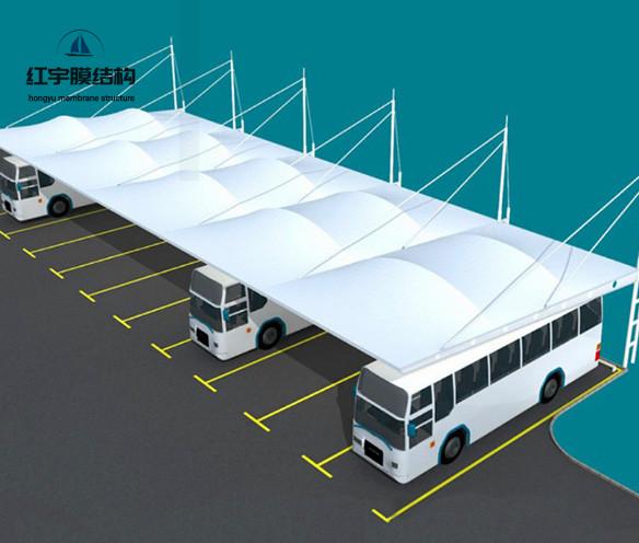 汽车停车棚膜结构图1